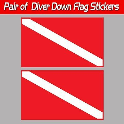 Diver Down scuba sticker decal travel flag laminated graphic tank ready toolbox