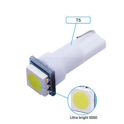 2 LED T5 SMD BIANCO Lampade Lampadine Posizione Per Fari Angel Eyes Quadro MOTO