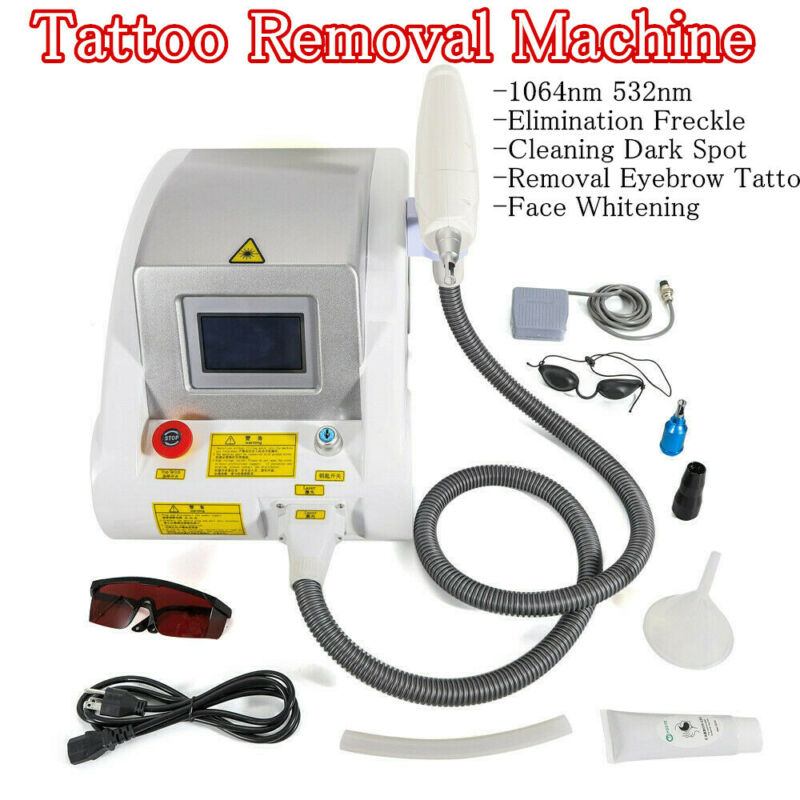Yag Laser Tattoo Removal Beauty Machine Pigments Removal Face Whiten Equipment
