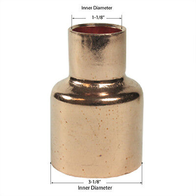 Libra Supply 3 X 1 3 X 1 Inch Copper Pressure Coupling Bell Reducer Cxc