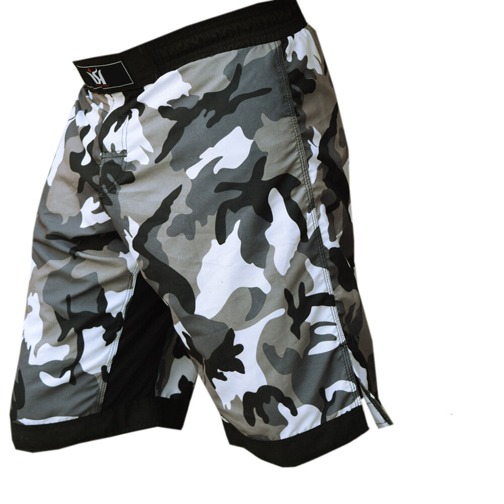MMA Grappling Shorts UFC Fighter Mix Cage Fight Kick Boxing Camo Short M-L-XL