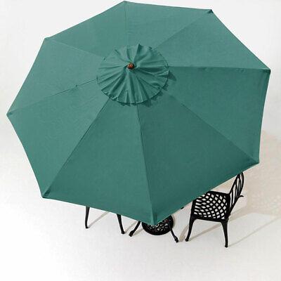 9 Patio Umbrella Cover Top 8 Rib Outdoor Canopy Market Yard Beach Garden Green - $21.99