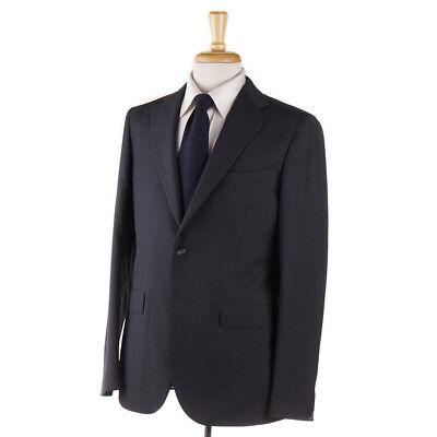 NWT $1675 BOGLIOLI 'Sforza' Dark Gray Basket Check Wool Suit 40 R (Eu 50)