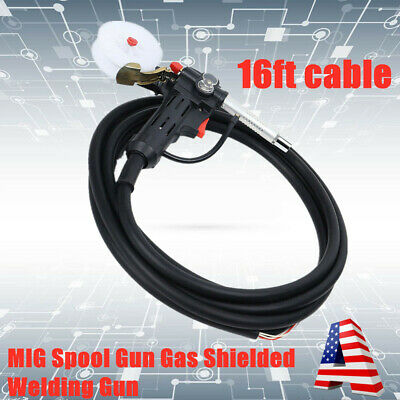 16 Feet Mig Spool Gun Push Pull Feeder Aluminum Welding Torch For Miller Gun 24v