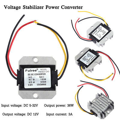 Dc-dc 5-32v To 12v 3a Automatic Voltage Stabilizer Power Converter Regulator