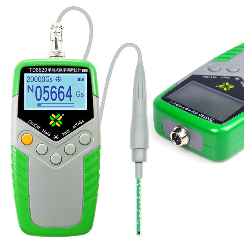 Digital Gauss Meter Tool Kit Surface Magnetic Field Tester Hand-held Flux TD8620