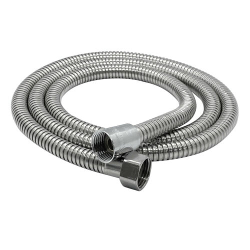 2M//6.6ft Shower Head Hose Bathroom G1//2 Extra Long Stainless Steel Flexible Pipe