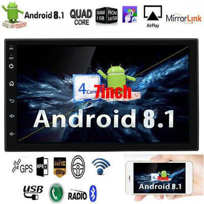 Android 8.1 Bluetooth Car Stereo Radio 2din 7