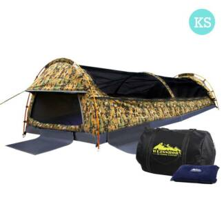 King Single Camping Canvas Swag Tent Desert Camouflage w/ Bag South Morang Whittlesea Area Preview
