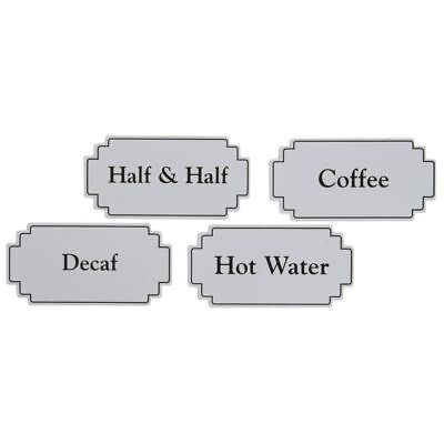 Magnetic Airpot Thermal Coffee Dispenser Signs White Plastic W Black Print 3