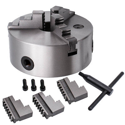 Drilling 3-jaw Self-centering Lathe Chuck K11-160 6 Inch 45mm Silver Milling