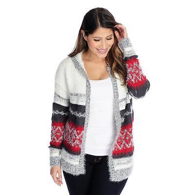 Drop Shoulder Knit Cardigan - NEW OSO Casuals Textured Knit Drop Shoulder Open Front Hooded Cardigan S,M,XL,1X