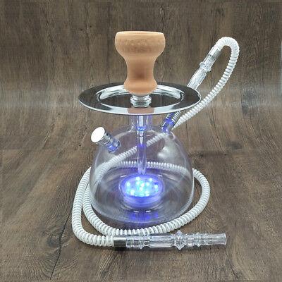 LED Light Hookah Shisha Sheesha Chicha Narguile Ceramic Tobacco Bowl Hose comprar usado  Enviando para Brazil