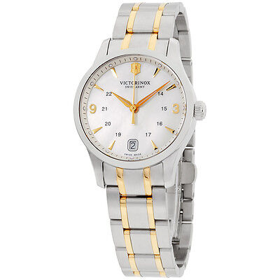 Victorinox Swiss Army Connection MOP Dial Two Tone Ladies Watch 249062