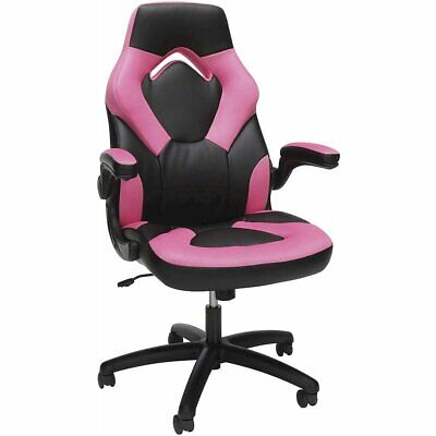 Ofm Essentials Collection Racing Style Bonded Leather Gaming Chair In Pink...