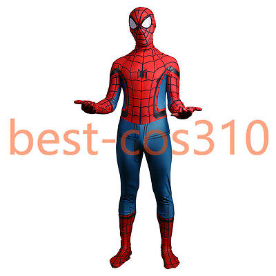 2017 Spider-Man Homecoming Costume Cosplay Spiderman Adult Zentai 3D Costume New (Costume D Halloween 2017)