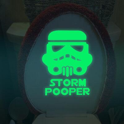 Star Wars Toilet Decorate Luminous Stickers Bathroom Decal War Anime Sticker - Star Wars Decoration