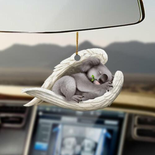 Koala sleeping angel Two Sides Print Car Hanging Ornament
