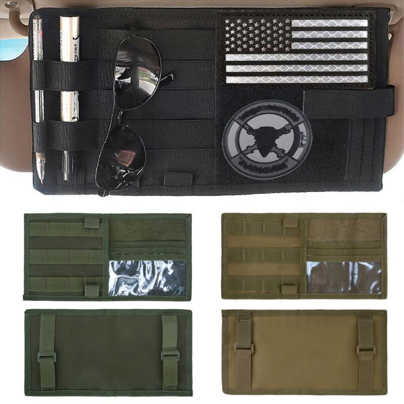 Tactical MOLLE Vehicle Visor EDC Tool Pouch Car Sun Visor Organizer Storage Bag
