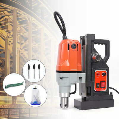 1100w 220v Md40 Magnetic Drill Press 40mm Boring Mag Force Industrial Tapping