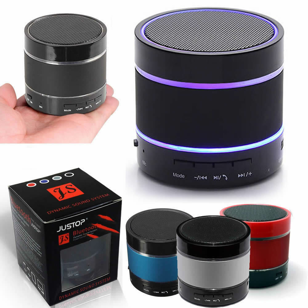 Bluetooth Wireless Speaker Portable With LED Light Loud For Samsung iPhone iPad