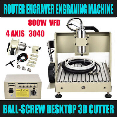 4axis Cnc 3040 Ball Screw Lathe Frame Engraving Milling Machine Wood Router Rack
