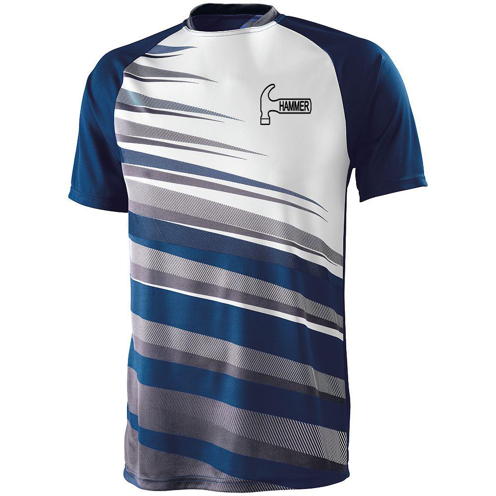 Hammer Men's Sauce Performance Jersey Bowling Shirt Dri-fit Navy