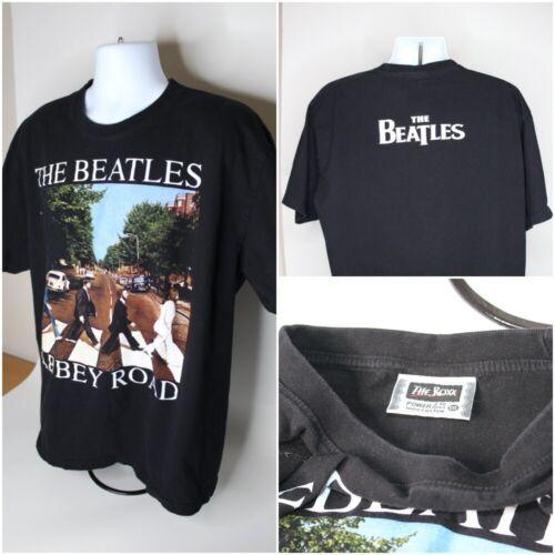 Mens THE ROXX Beatles Abbey Road Short Sleeve Black T-Shirt : Size 2XL Cotton