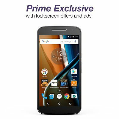 Moto G 4th Generation Black 32GB Unlocked Prime Exclusive Locksceen Offers & Ads
