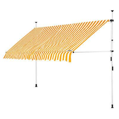 B-Ware Klemmmarkise Gelb/Weiß 400cm