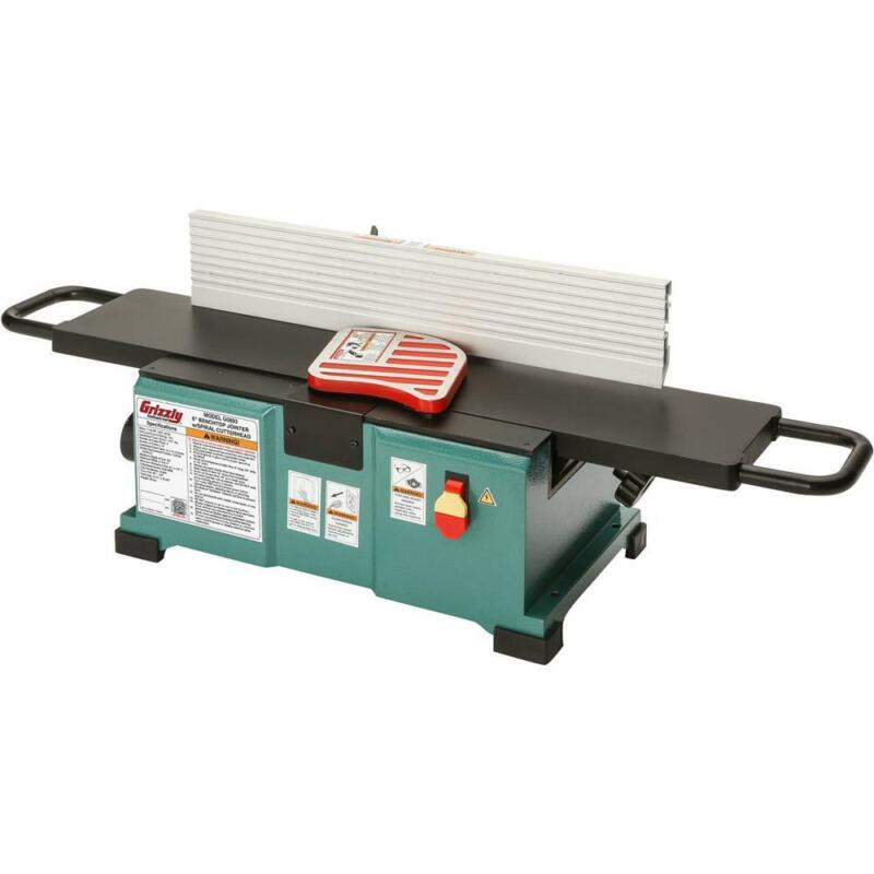"""Grizzly G0893 6"""" Benchtop Jointer with Helical Cutterhead"""