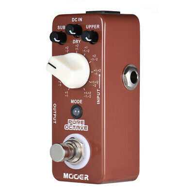 MOOER PURE OCTAVE Electronic Pedal Guitar Effect Pedal True Bypass