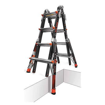 17 1a Fiberglass Little Giant Dark Horse Ladder W Ratchet Levelers 15147-801