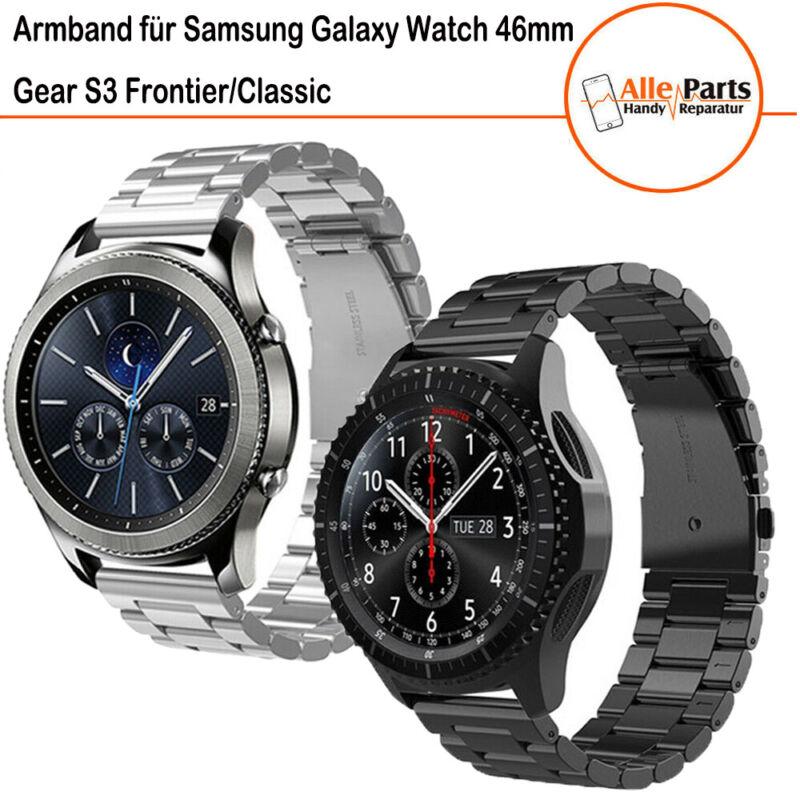 Uhrenarmband für Samsung Gear S3 Frontier/Classic/Galaxy Watch 46mm Edelstahl