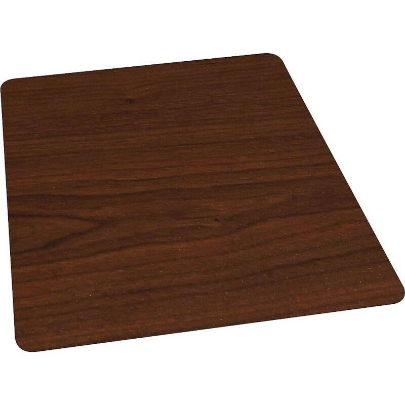 "Staples 36"" x 48"" Wood Veneer Style Chair Mat for Hard Floors Cherry 951074"