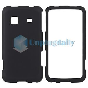 Black Hard Case Cover for Samsung Galaxy Prevail M820 Boost Mobile Accessory