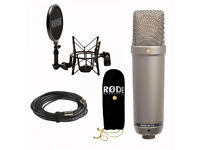 Studio Microphone RODE NT1-A with kit (+Gravity tripod)