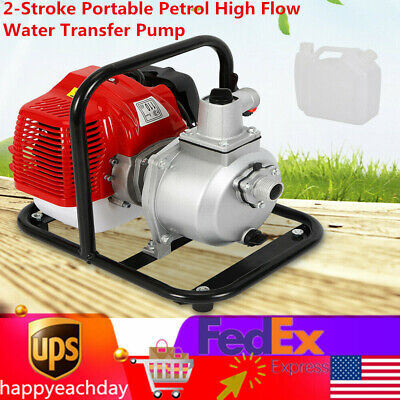 2-stroke Portable Petrol High Flow Water Transfer Pump Irrigation 43cc 1.7hp Usa