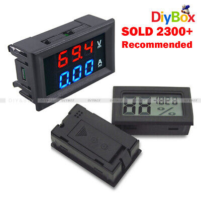 Dc 100v 10a Voltmeter Ammeter Blue Red Led Amp Dual Digital Volt Meter Gauge