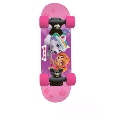 Paw Patrol Kid'S 17 Inch Maple Wood Mini Skateboard Cruiser Black/Pink