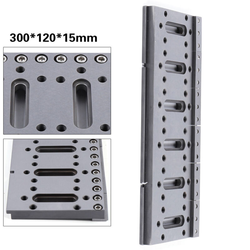 EDM M8 Wire Fixture Board Stainless Jig Tool For Leveling&Clamping 300X120X15mm