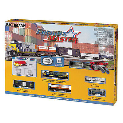 Bachmann Trains Freightmaster N Scale Ready-To-Run 60-Piece Train Set | 24022-BT