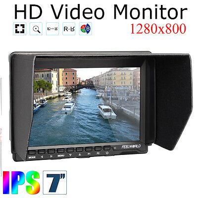 """US Stock Feelworld FW759 7"""" Slim HD IPS 1280x800 Field BMPCC Monitor HDMI Input"""