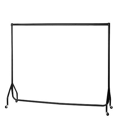 6FT Heavy Duty Metal Garment Clothes  Display Market Rail Stand Free extension