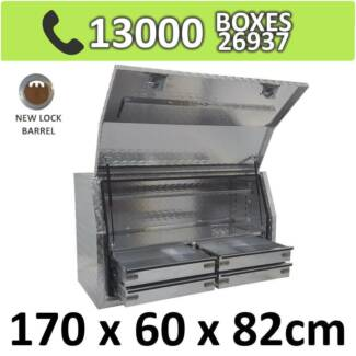 Aluminium Toolbox Side with Built in 4 Drawers Ute 1768FD-4