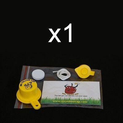 1x - Pack - 1 Blitz Yellow Spout Cap 1 Vent Cap Fix Your Gas Can -4pcs Total