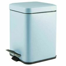 mDesign Small Square Step Trash Can Garbage Bin, Removable Liner, 6L