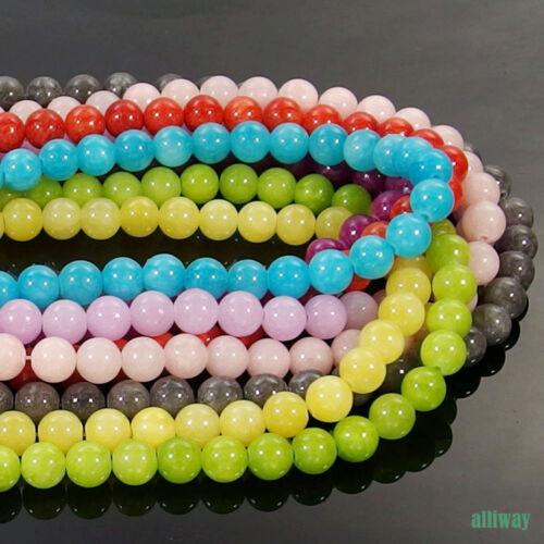Jade Gemstone Round Spacer Beads 15.5