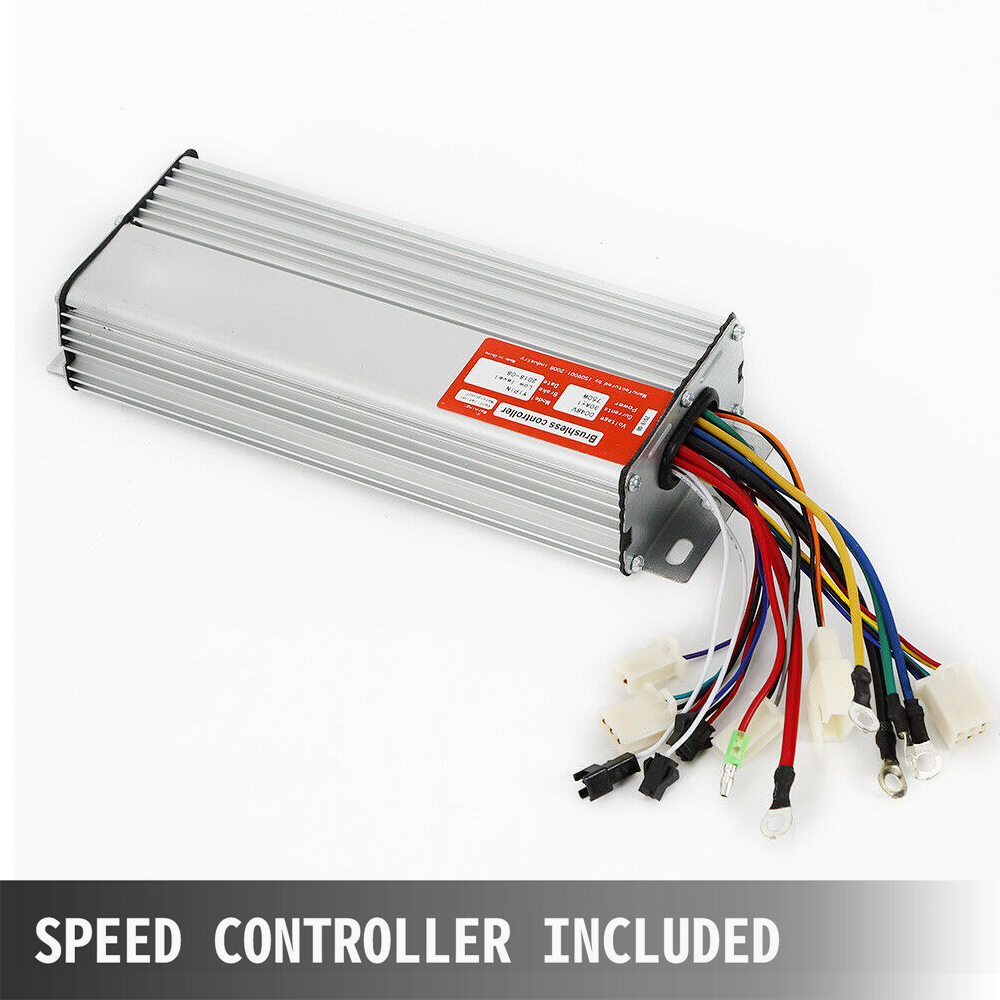 Details about  /750W 48V DC Electric Motor Controller For Quad Trike GoKart Gear Reduction