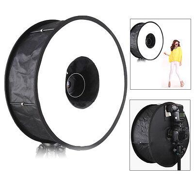 """UK Mcoplus Macro Ring Speedlite Flash Diffuser Round Softbox 18""""/45cm for Camera"""
